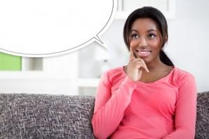 Thinking black woman