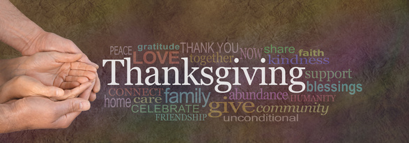 Thanksgiving Word Cloud Website Banner